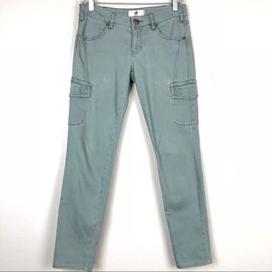 CABI   Green    Cargo   Stretch Jeans Ankle   2